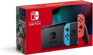 Nintendo Switch Console - Neon Red/Neon Blue with improved battery
