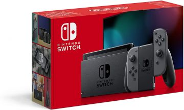 Nintendo Switch Console - Grey with improved battery