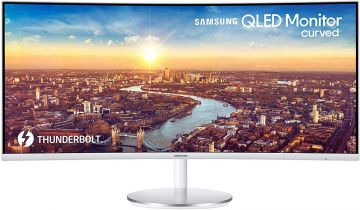 Samsung LC34J791WTUXEN 34-inch Thunderbolt 3 Professional Curved Monitor