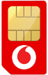 Vodafone RED 12M SIM Only - 1GB