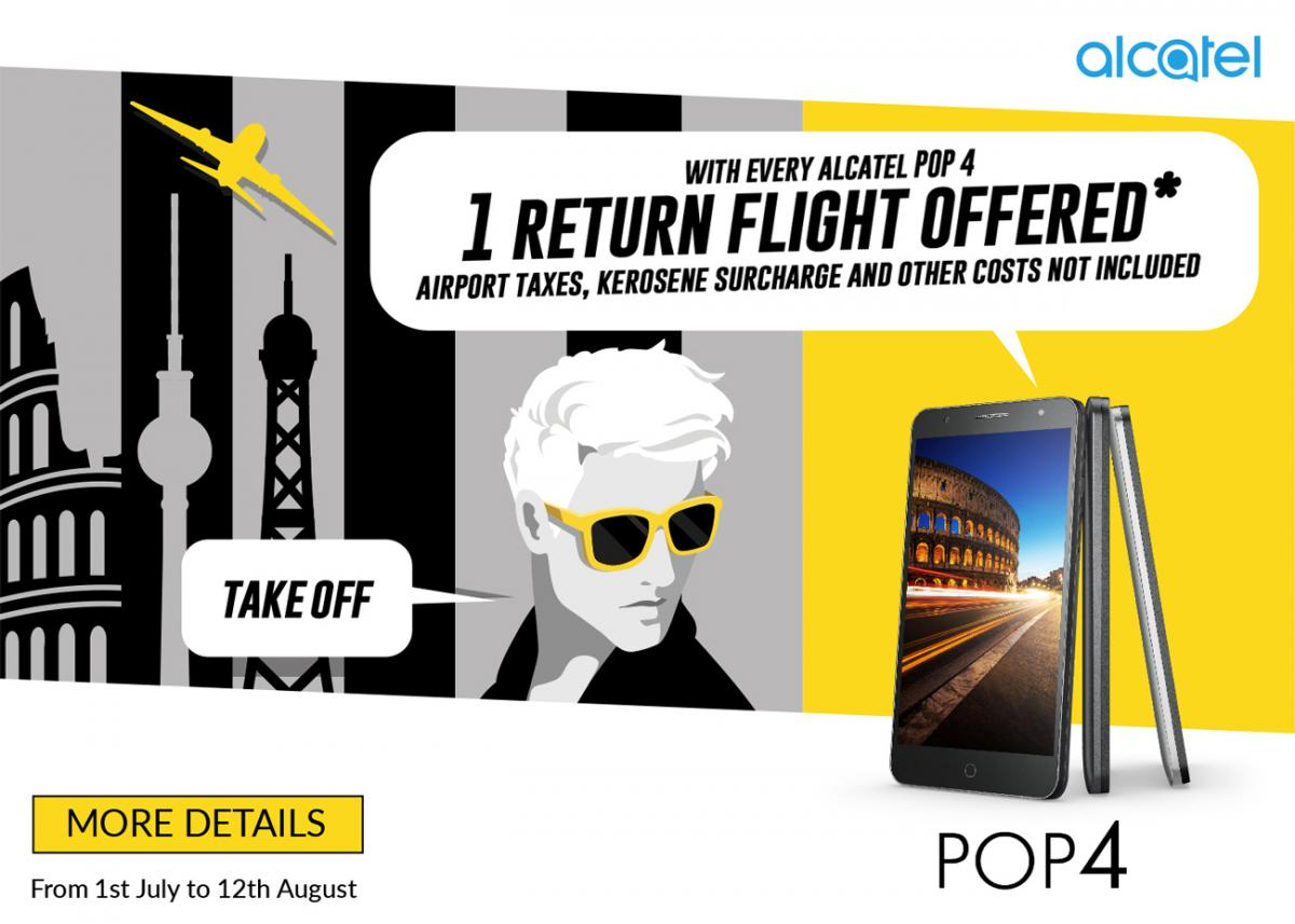 This Week's Chitter Chatter: Get a Free Return Flight with Alcatel