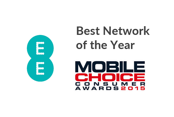 EE Wins Best Network at Mobile Choice Awards 2015